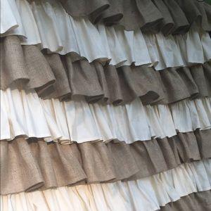 Burlap/Cotton Shower curtain